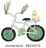 i love bikes  | Shutterstock .eps vector #98220272