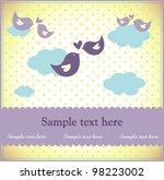 baby shower or birthday... | Shutterstock .eps vector #98223002