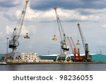 View On Antwerp Port With...