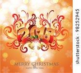 merry christmas   happy new...   Shutterstock .eps vector #98252945