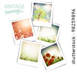 some vintage summer photos with ... | Shutterstock .eps vector #98259896