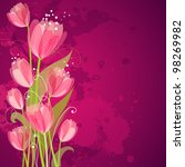 floral background with tulips | Shutterstock .eps vector #98269982