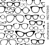 retro seamless spectacles | Shutterstock .eps vector #98270345
