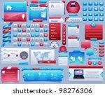 web elements vector design set | Shutterstock .eps vector #98276306