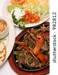 traditional fajitas (meal) - stock photo