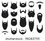 set of beard silhouettes | Shutterstock .eps vector #98283755