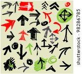 art sketching set of vector... | Shutterstock .eps vector #98286785