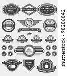 vintage style retro emblem...   Shutterstock .eps vector #98286842