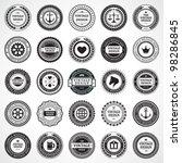 vintage style retro emblem... | Shutterstock .eps vector #98286845