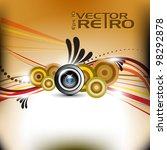abstract musical illustration... | Shutterstock .eps vector #98292878