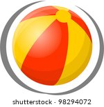 travel icon   ball | Shutterstock .eps vector #98294072