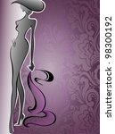 Silhouette Of A Slender Woman...