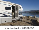 rv by a lake | Shutterstock . vector #98308856