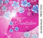 wedding card or invitation with ... | Shutterstock .eps vector #98317262