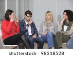 team building  group discussion ... | Shutterstock . vector #98318528
