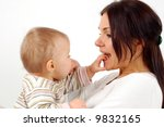 mother and baby | Shutterstock . vector #9832165