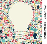 social media icons texture with ... | Shutterstock . vector #98324762