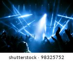 silhouettes of people and... | Shutterstock . vector #98325752