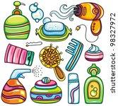 icon set hygiene accessories... | Shutterstock .eps vector #98327972