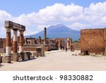 View Of Mount Vesuvius Through...