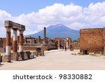 View Of Mount Vesuvius Through...