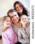 loving family portrait together ... | Shutterstock . vector #98332472