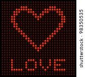 love heart on a led display | Shutterstock .eps vector #98350535