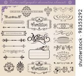 vector calligraphic decoration... | Shutterstock .eps vector #98353292