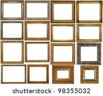 set of vintage gold picture... | Shutterstock . vector #98355032