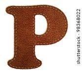 Leather Alphabet. Leather...