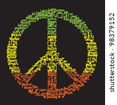 vector peace symbol made of... | Shutterstock .eps vector #98379152