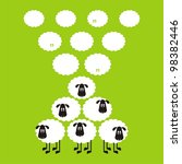 sheep  good and different   11... | Shutterstock .eps vector #98382446