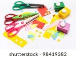 tools for children's creativity ... | Shutterstock . vector #98419382