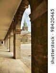 Stock photo interior courtyard at the irish museum of modern art imma in dublin ireland 98420465