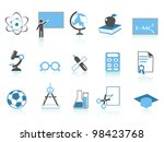simple education icon blue... | Shutterstock .eps vector #98423768