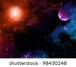 universe with planet | Shutterstock . vector #98430248