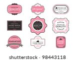 vintage label style with nine...   Shutterstock .eps vector #98443118