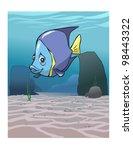 fish in the ocean | Shutterstock .eps vector #98443322