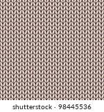 seamless knitted pattern | Shutterstock .eps vector #98445536