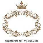 elegant royal frame with crown...