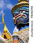 Grand Palace Guardian - Bangkok - stock photo