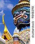 Grand Palace Guardian - Bangkok - stock photo
