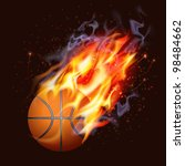 basketball on fire | Shutterstock .eps vector #98484662