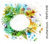 Floral Spring And Summer Design ...