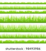 Silhouette Of Seamless Grass ...