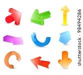 3d arrows  vector eps10... | Shutterstock .eps vector #98494286