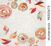 Floral Backgrounds With Vintag...