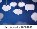 Blank white speech bubbles...