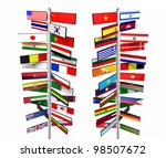 states of the world and their... | Shutterstock . vector #98507672