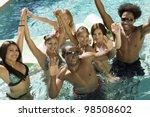 friends playing in pool | Shutterstock . vector #98508602